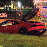 Two were injured after a crash involving a Lamborghini in Orlando on Friday, June 24, 2016.