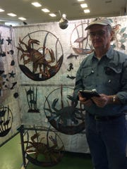 Don Drew of Copper Creations makes unique copper sculpture and garden art with an aged patina.