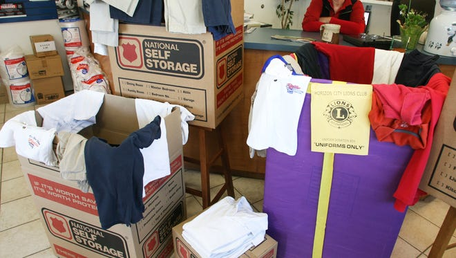 National Self Storage, 10560 North Loop,  is one of the drop-off locations for uniforms. Uniforms can be dropped through July 14.