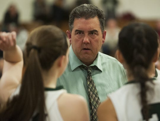 Winooski head coach Tom Prim reached 100 career wins on Wednesday night. Prim is in his ninth and final season at the helm of the Spartans.