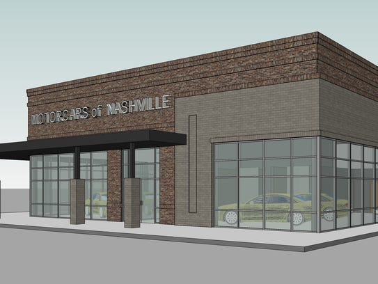 A rendering of a 4,000-square-foot showroom with space