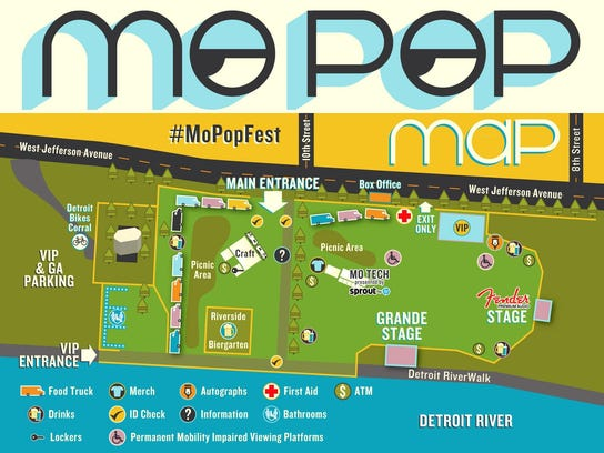 The MoPop Festival on the Detroit Riverfront near the