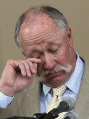 "From 2008: Rich ""Goose"" Gossage wipes a tear as he"