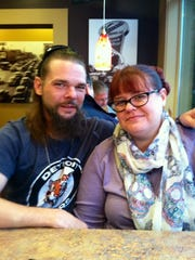 Army veteran Eric Thompson and his fiancee, Jo Tyler. Thompson is set to graduate from veteran's court in two months.