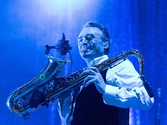 Brian Travers of UB40 performs on stage at Usher Hall