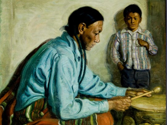This painting by artist E.M. Hennings is among 20 paintings and other pieces that are part of the Southwest Lodge Gallery at the Rockwell Museum in Corning.
