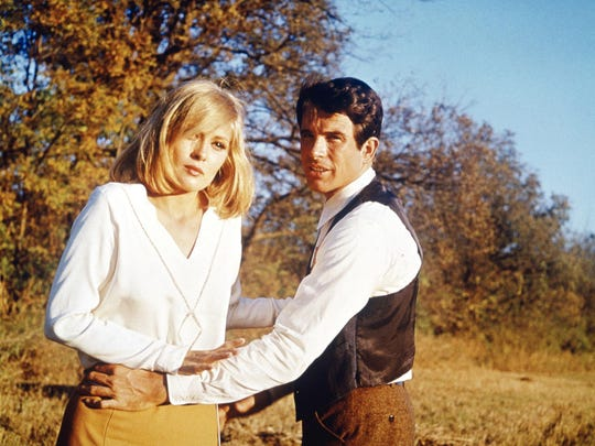 """Faye Dunaway and Warren Beatty in """"Bonnie and Clyde."""""""