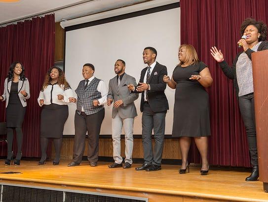 Members of the MTSU Generation of Praise Gospel Choir