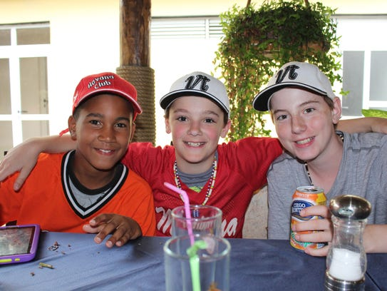 From left to right: A Cuban ballplayer from Marianao