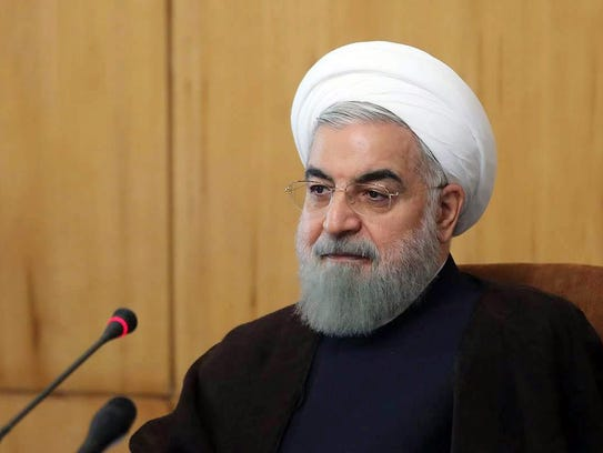 A handout picture made available by the Iranian presidential
