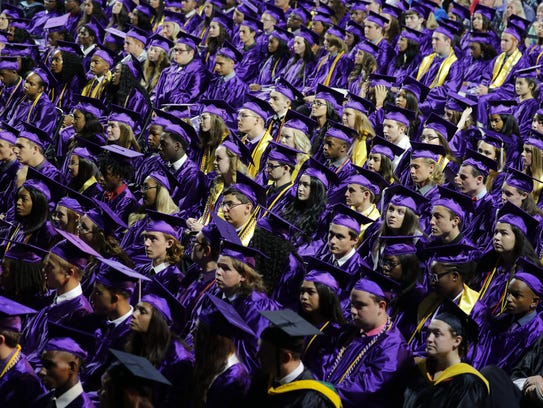 Cypress Lake High School seniors celebrated their graduation