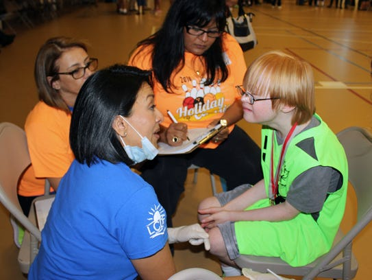 Free health screenings take place at state competitions