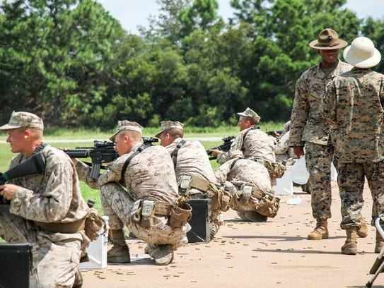 Charlie Company, platoon #1070, during firing week