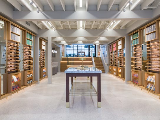 A peek inside the Warby Parker store in Nashville.