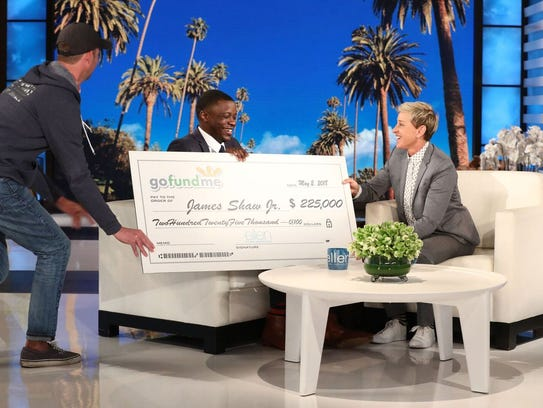 James Shaw Jr appeared on TV's 'Ellen' Wednesday