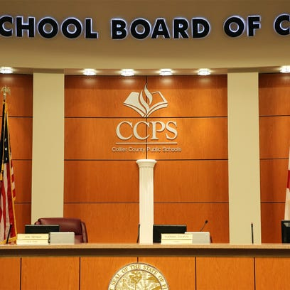 The Collier School Board unveiled a new logo at a news