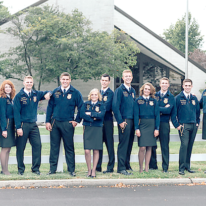 The Ohio State FFA Team completed their year of service