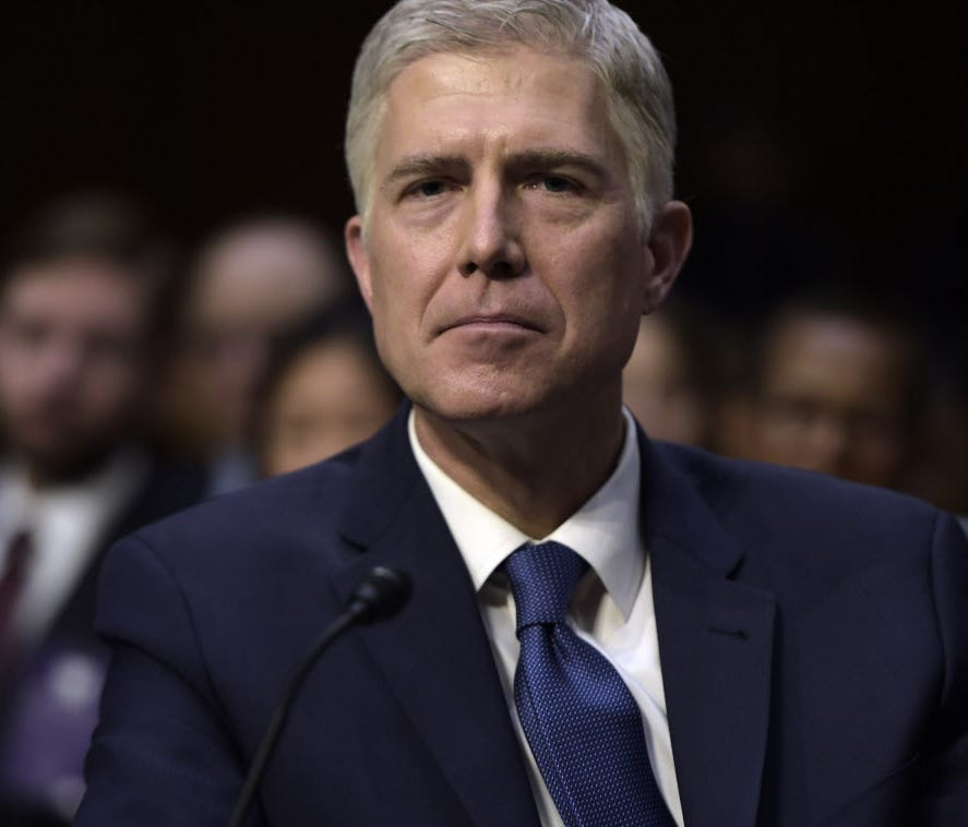 Neil Gorsuch during the Senate Judiciary Committee confirmation hearing in Capitol Hill on March 20, 2017.