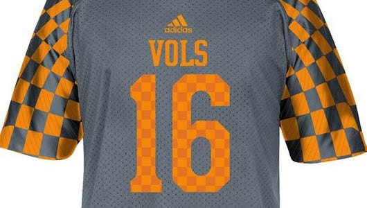 Vols gray jersey being sold in Vol stores in 2014.