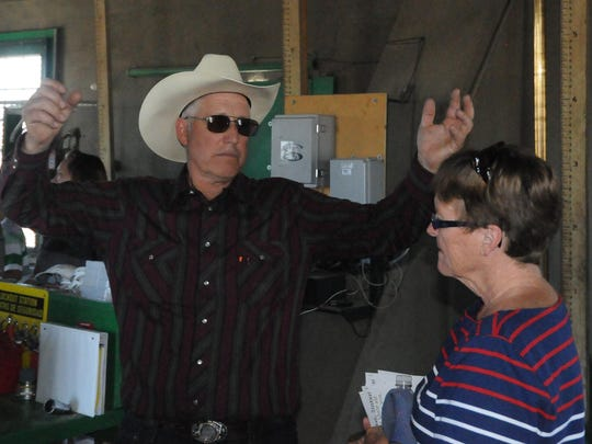 TCID board president Ernest Schank talks during a tour of the Lahontan Dam facilities as part of the celebration.