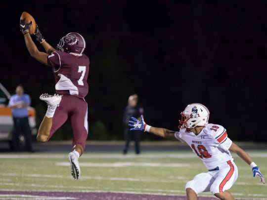 Bearden cornerback Tyson Bivins returned an interception 55 yards for a touchdown during the Bulldogs' Sept. 1 win over Jefferson County.