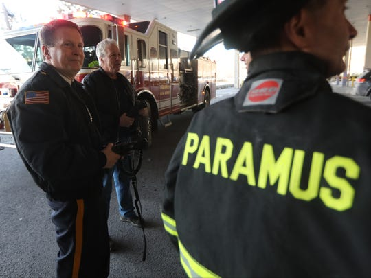 Kenneth R. Ehrenberg is the Paramus Chief of Police, as well as the Chief of the Paramus Fire Department.  He is shown here, on a fire department call, just off Rt. 4.  Wednesday, January 3, 2018
