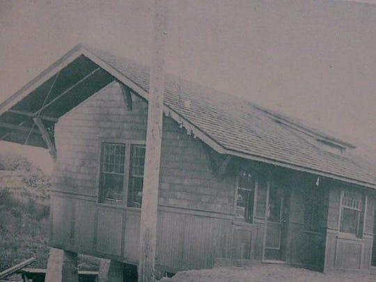 The Spencerport trolley depot's original building.