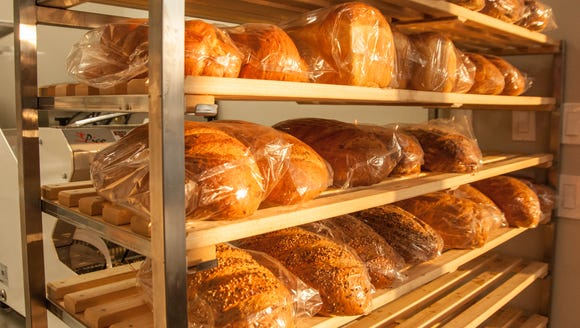A few of the freshly baked bread selections at Lafayette's