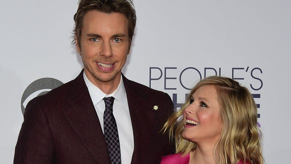 Dax Shephard, pictured with wife Kristen Bell, is one