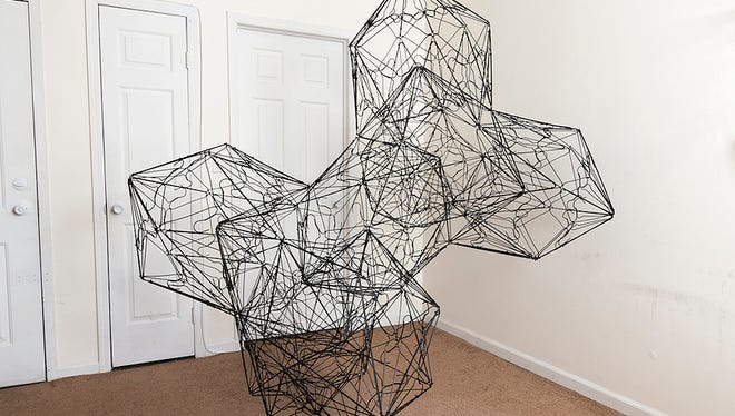 Wire sculptures by Oki Fukunaga will take over Perkins Center for the Arts in Collingswood.