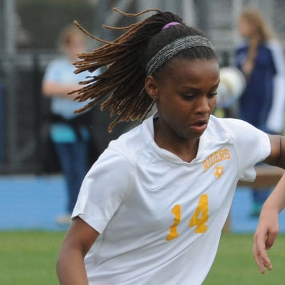 Caesar Rodney's Janiah Moore scored three goals Friday as the Riders moved into Monday's title game with a 6-0 win over Appoquinimink.