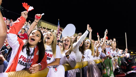 Pisgah fans cheer after a field goal during last year's game against Tuscola