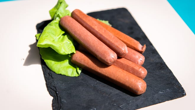 Hot dogs from hickory Nut Gap farm in Fairview.