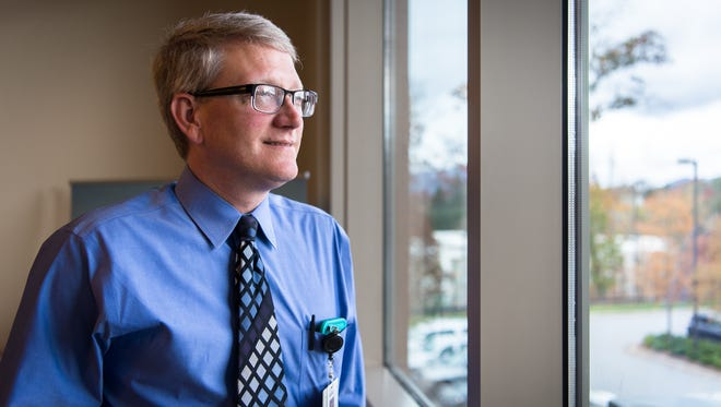 Blake Fagan, the assistant director of the family medicine residency program at MAHEC family health center in Asheville.