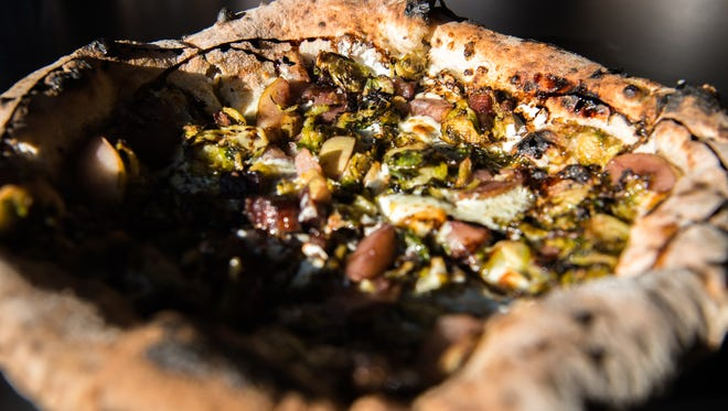 A specialty pizza at White Labs Kitchen & Tap.