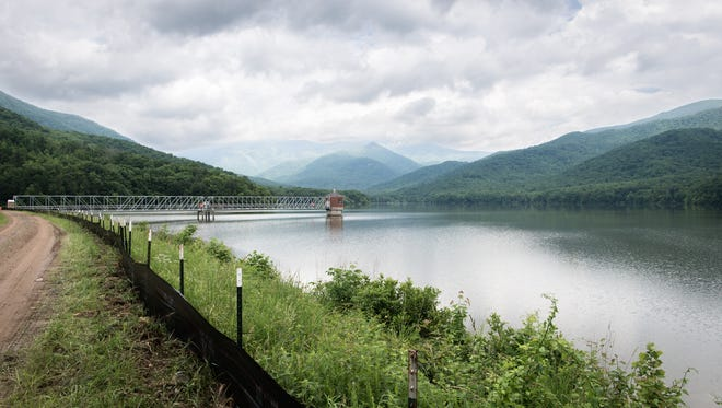 The North Fork Reservoir in Black Mountain.