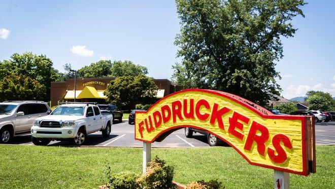 Fuddruckers restaurant on Charlotte Street in Asheville.