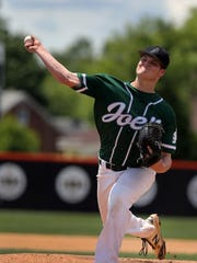 Kyle Angel pitches for St. Joseph