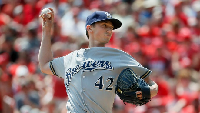 Zach Davies had a better start on Saturday, but the Brewers lost, 7-5.
