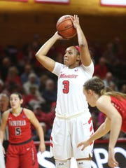 Marist College's Alana Gilmer takes a free throw against