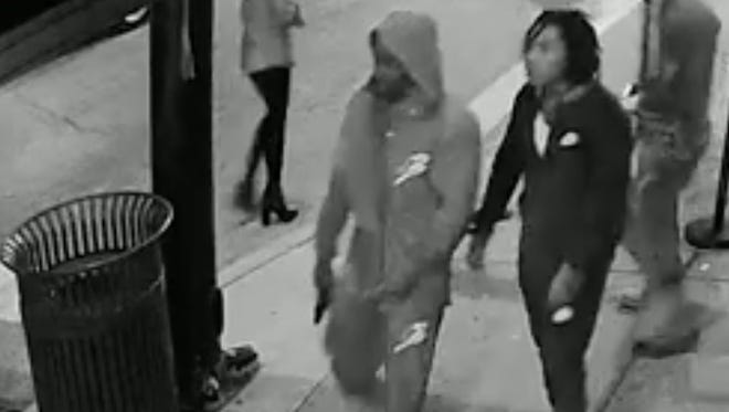Surveillance images from a Downtown shooting.
