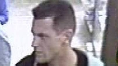 Police seek this man in a string of fraudulent credit and debit card purchases.