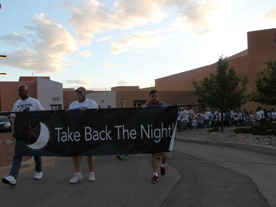 A large group of community members marched in support of those who are victims and survivors of sexual assault  and abuse.