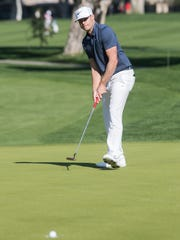 Nick Watney's birdie on the 17th green at the La Quinta