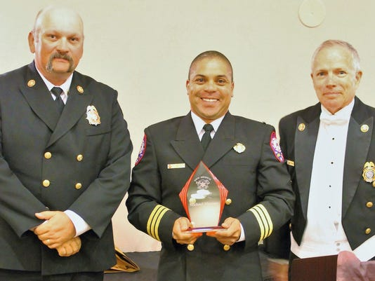 morrow with fire officer award