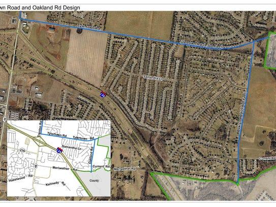 Tylertown Oakland Map