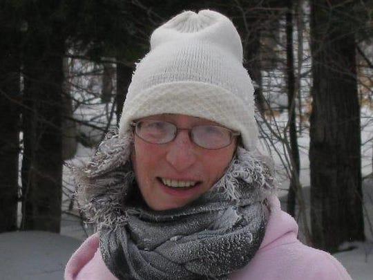 Nancy Petrosino, 60, of Ontario following a one-mile run in -27 degrees in the Adirondacks in 2013.