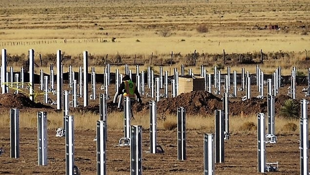 Construction is underway at Otero County Electric Cooperative's 3 megawatt solar project, located on U.S. 380 between Carrizozo and Capitan. The project is expected to be online in March and will provide locally produced renewable energy to OCEC's 14,000 members.