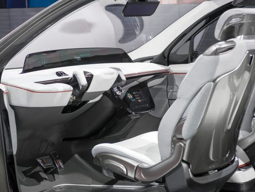 The Chrysler Portal concept vehicle is electric powered