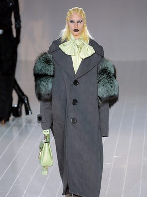 Lady Gaga walks the runway at the Marc Jacobs  Fall 2016 show during  New York Fashion Week at The Park Avenue Armory.